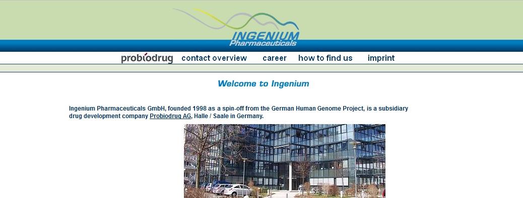 Ingenium Pharmaceuticals Inc
